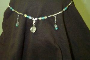 Quartz Crystal Aqua Celtic Elven Medieval Renaissance Circlet