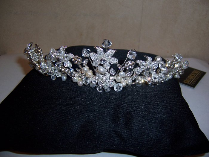 Crystal Pearl Bridal Tiara
