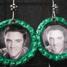 Green Elvis Bottle Cap