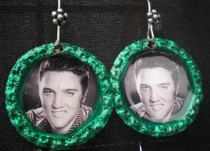 Green Elvis Bottle Cap