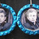 Blue James Dean Bottle Caps