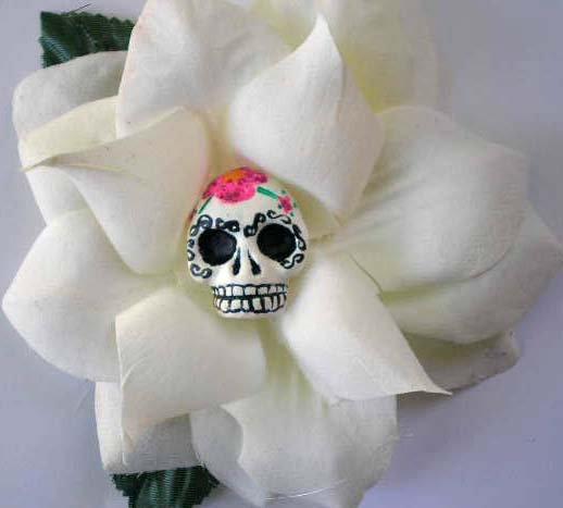 White Rose Sugar Skull