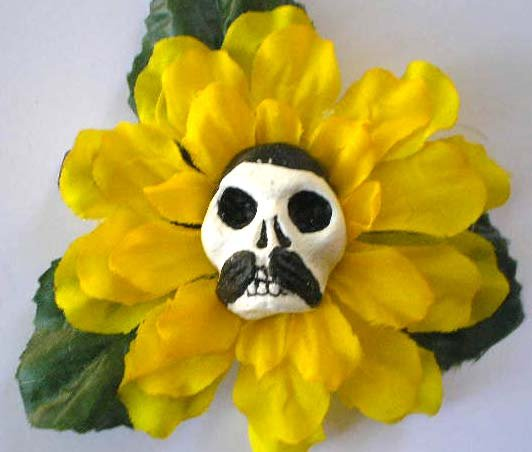 Yellow Flower Pancho  Hair Clip