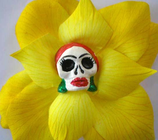 Yellow Red Head Calavera
