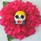 Blonde Calavera Pink Flower
