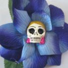 blonde Calavera blue Flower