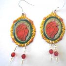 El Corazon loteria shrine earings