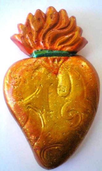 GOLD SACRED HEART