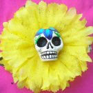 sugar skull yellow flower