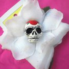 sugar skull white flower