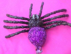 Tarantula  Hair Clip - Purple