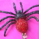 tarantula  Hair Clip - Red