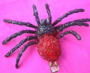 tarantula  Hair Clip - Red