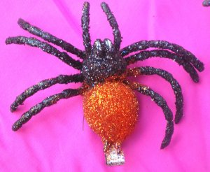 tarantula  Hair Clip - Orange