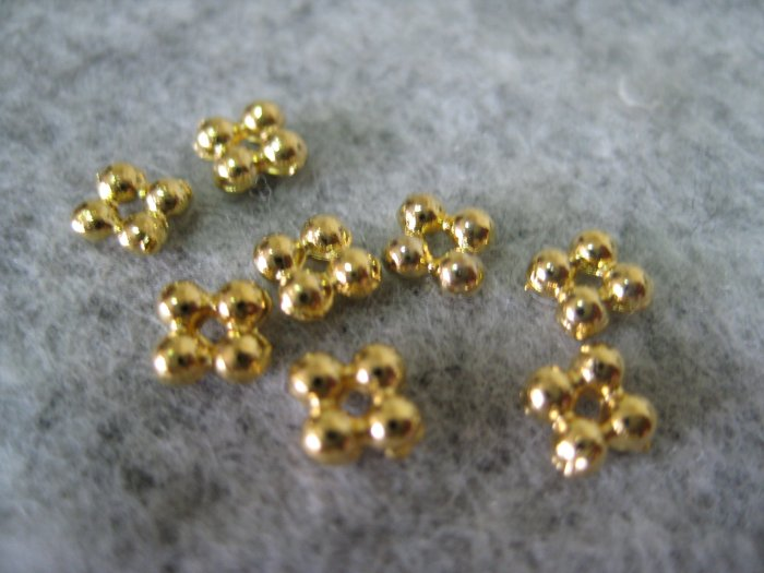 Bali Beads, 4mmx1mm, 10pcs