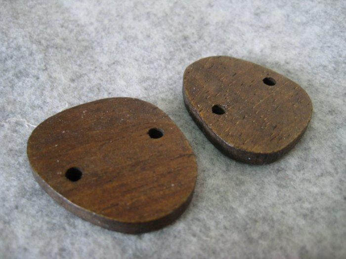 Wooden Bead, 2pcs