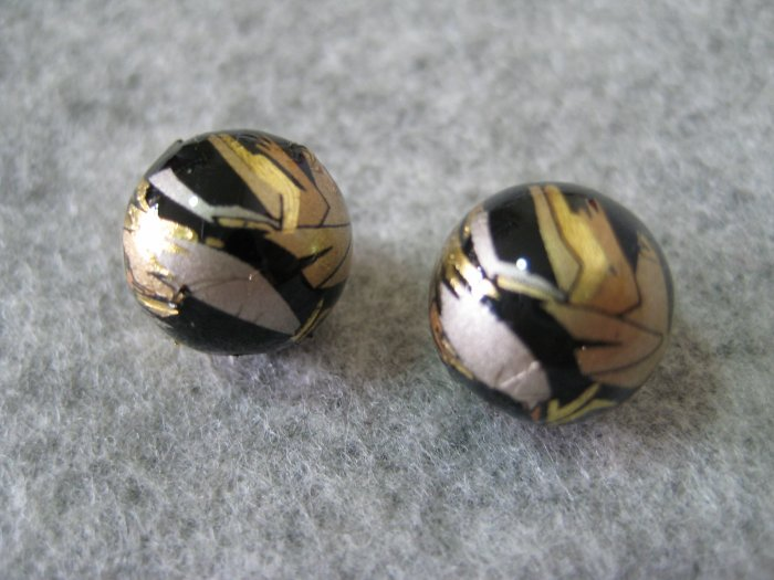 Japanese Tensha, Round, 12mm, 1 pair