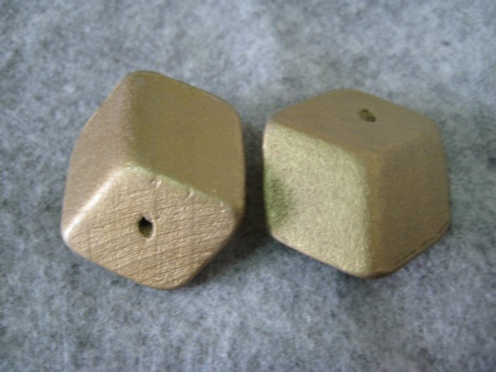 Wooden Bead, 23mm x 33mm, 6pcs