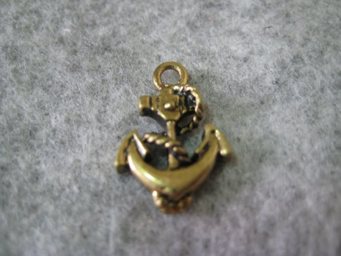 Anchor Charm, 20mm x 13mm, 1pcs