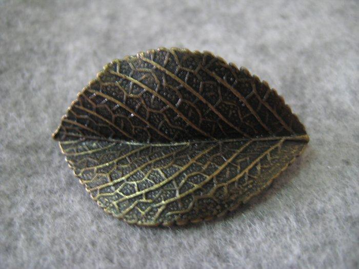 Leaf Charm, Brass, 21mm x 34mm