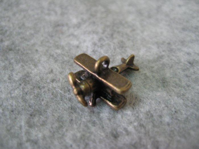 Aeroplane Charm, 14mm x 18mm, 1pcs