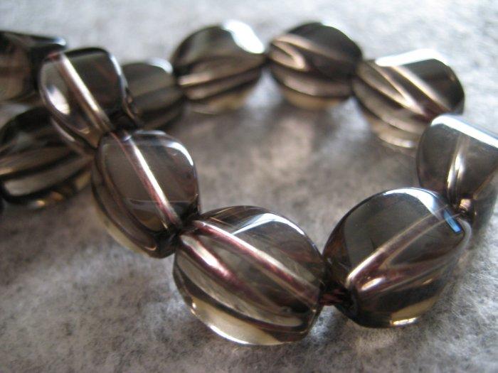Smokey Quartz Beads, 10pcs