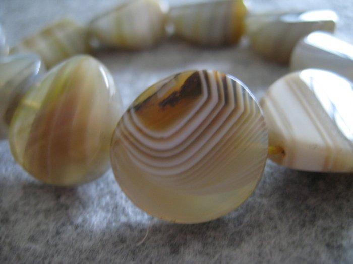 Agate Beads, 1 strand (10pcs)