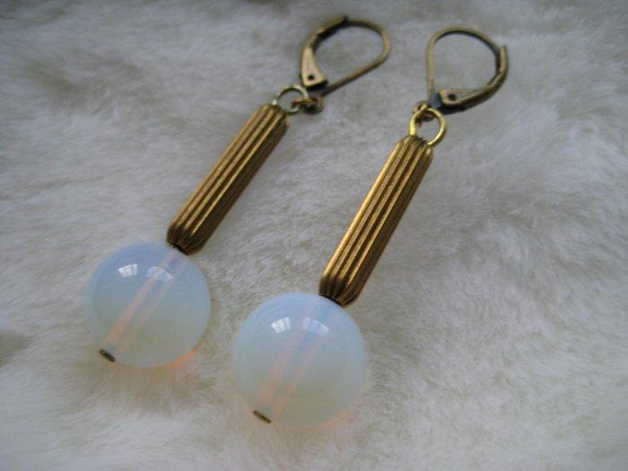 Art Deco Opal ~ Earrings