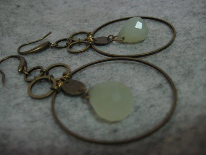 Art Deco Jade ~ Earrings