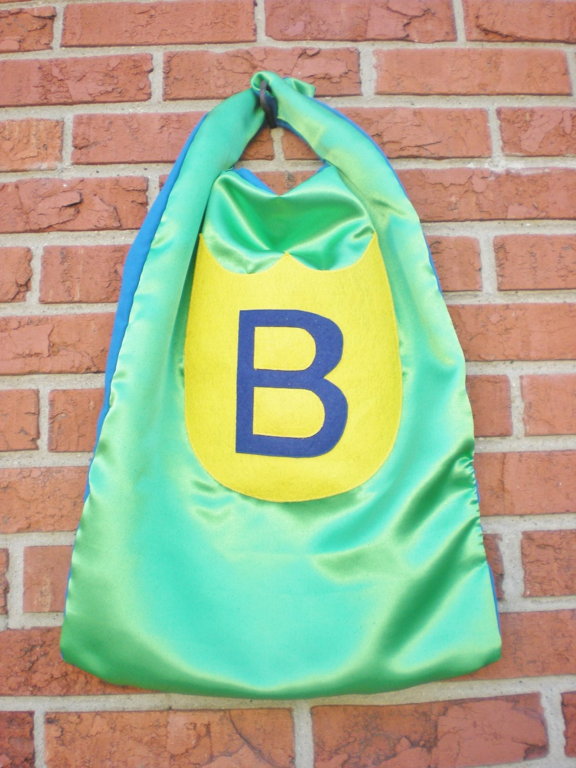 "Green and Blue  ""B"" Cape"