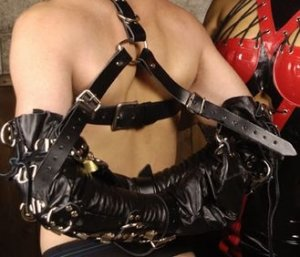 Deluxe Leather Arm Binder Restraint
