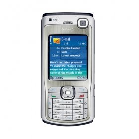 Nokia N70 Cell Phone/ Unlocked / Silver / Refurbished/ Free Shipping