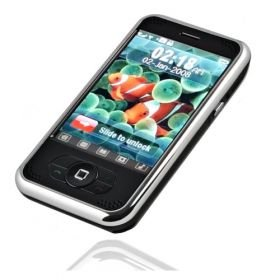 P168 Touch Screen Cell Phone With 1 GB Card/Free Shipping