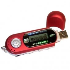 1GB Small Red MP3 Player /Free Shipping/5 units