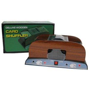 1-2 Deck Deluxe Wooden Card Shuffler