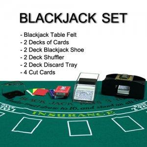 4 Deck Blackjack Accessories Set - Everything Needed to Play Blackjack