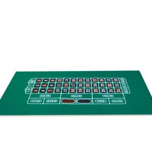 Roulette Table Layout 36 x 72 Inch Green Felt