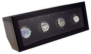 Heiden Prestige Automatic Quad Watch Winder - Black