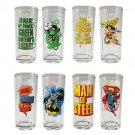 Vandor Justice League 4-Piece 10-Ounce Drinking Glass Set