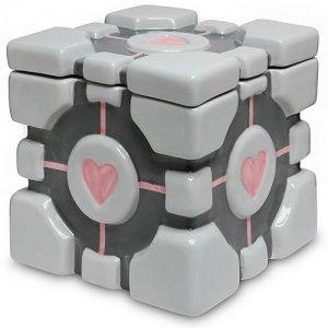 Portal Ceramic Companion Cube Cookie Jar