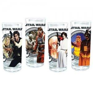Vandor Star Wars 4-Piece 10-Ounce Drinking Glass Set