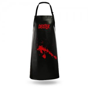 "Showtime Series ""Dexter"" Vinyl Kitchen Cooking Apron with Blood Splatter"