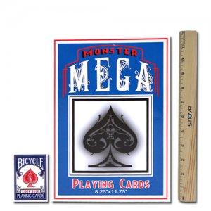 "MONSTER MEGA Super Jumbo Oversize Gimmick Playing Cards 8.25""x11.75"""