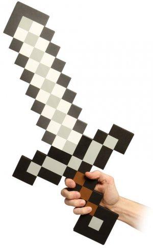 Minecraft Pixel Foam Sword Prop - Survive the Dark!