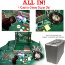 All In - The Casino Game Super Set - Blackjack, Roulette, Craps - 370 Pieces!