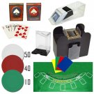 Professional 6 Deck Blackjack Kit - Shoe, Chips, Shuffler, Discard Holder