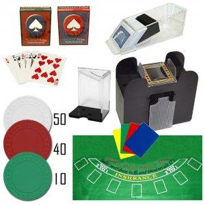 Professional 6 Deck Blackjack Kit - Shoe, Chips, Shuffler, Discard Holder