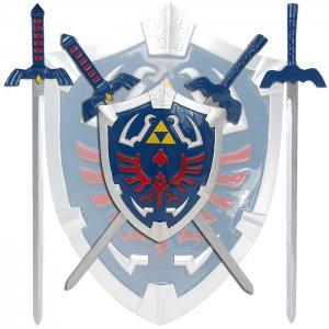 Legend Of Zelda Mini Master Sword Set with Hylian Shield Wall Display