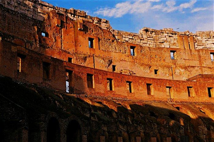 Inside the Coliseum, Rome, Italy