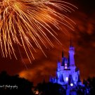 Disney Castle Fireworks - Digital Art Print 8 x 10